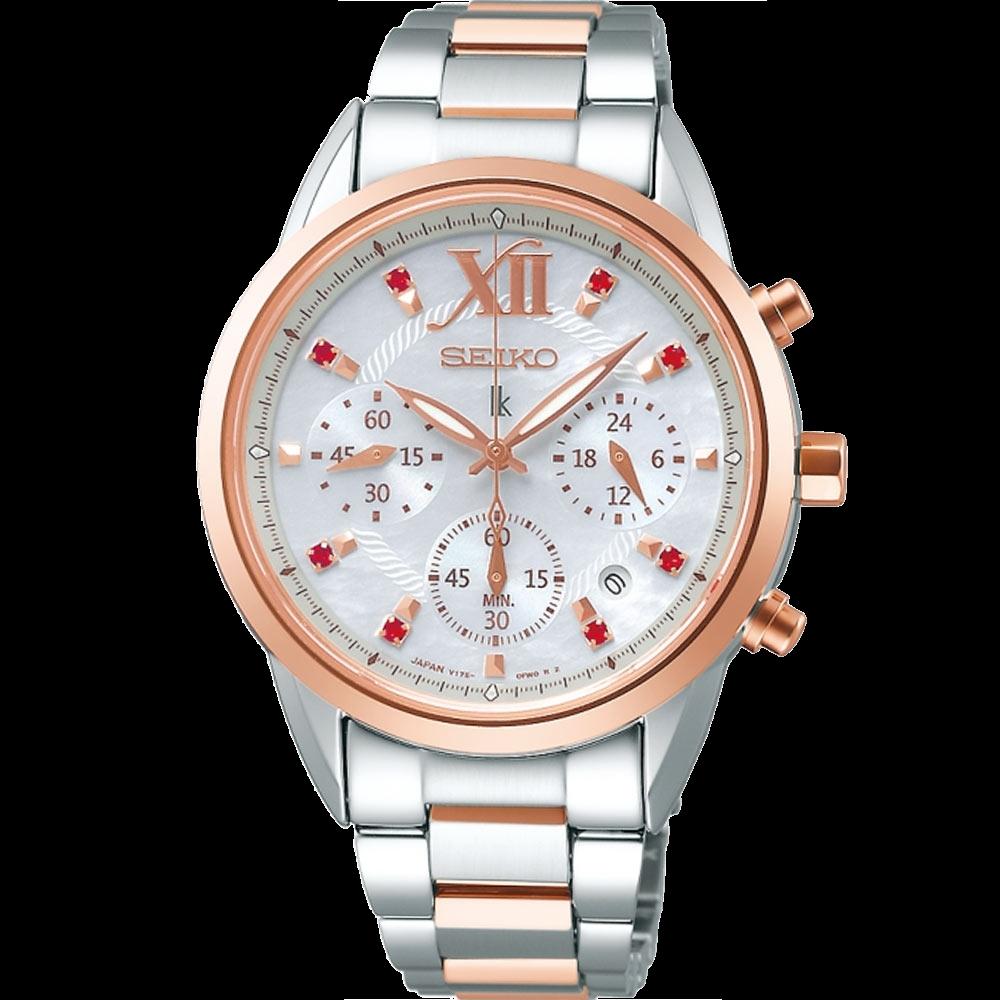 ▶︎SEIKO精工◀︎ LUKIA  星空燦爛 太陽能計時女腕錶(SSC824J1/V175-0EW0G)36mm