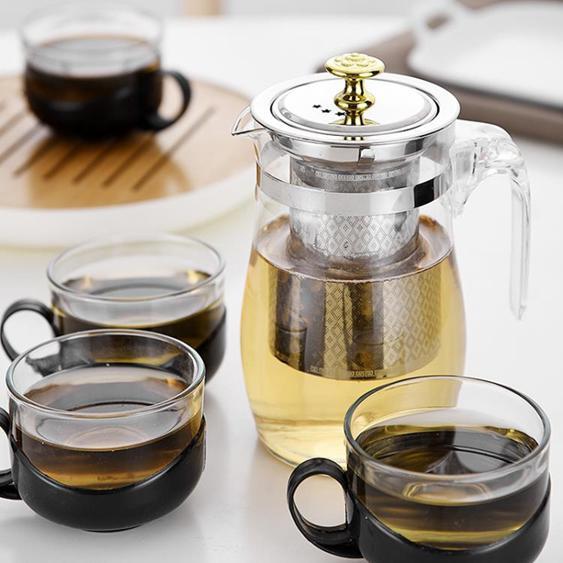 【飄逸壺】玻璃泡茶壺飄逸杯水壺單壺耐熱耐高溫加厚大容量茶水分離家用套裝