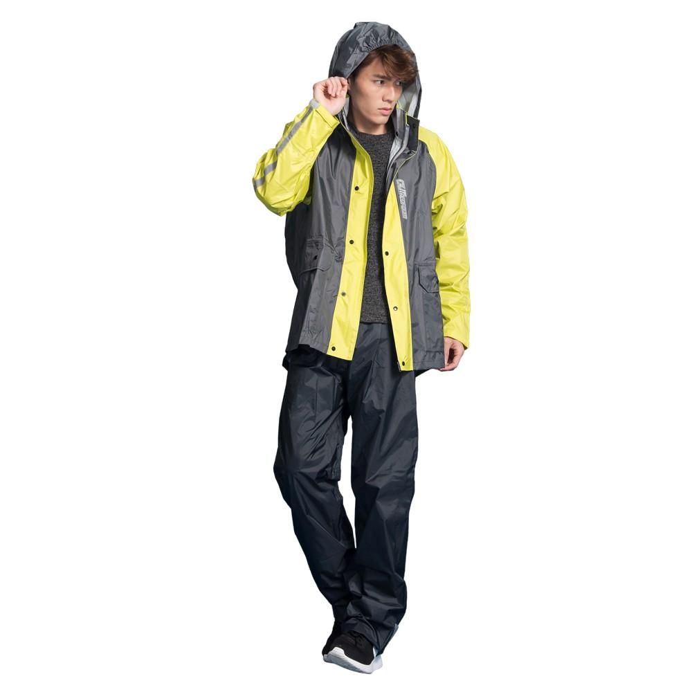 BrightDay 雨衣 藏衫罩背背款 黃 背包兩件式風雨衣 兩件式雨衣 背包款《比帽王》