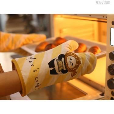 GREVY純棉烘焙手套烤箱專用手套廚房微波爐防燙加厚隔熱手套一對