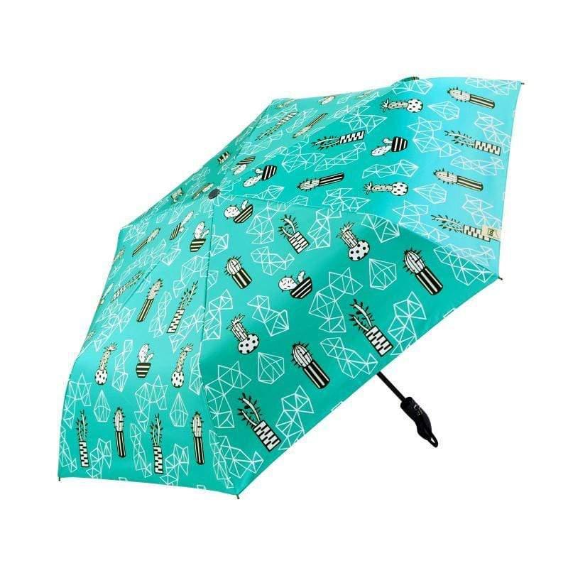 三折輕量黑膠防曬自動開收傘(多棱球)BY3079-005
