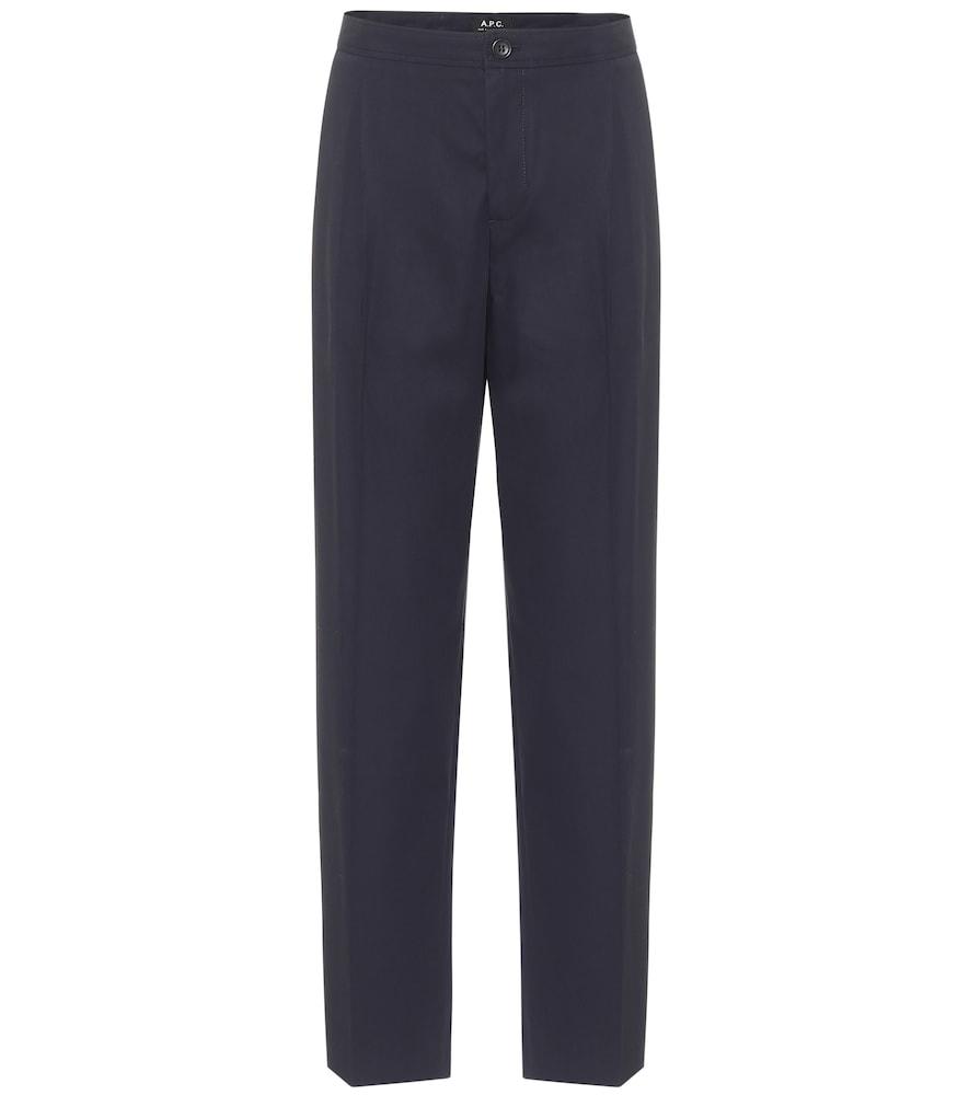 Amalfi cotton-crêpe straight pants