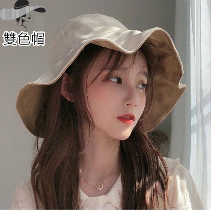 漂亮小媽咪 韓國暢銷 質感 雙色帽 遮陽帽【BW5888】 純棉 漁夫帽 女性 成人 防曬 大帽檐 []