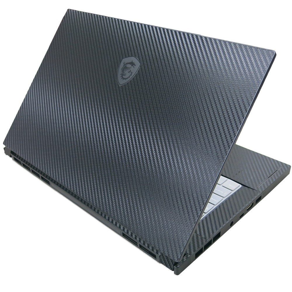 【Ezstick】MSI GS66 10SE 10SGS Carbon黑色立體紋機身貼 (上蓋貼、鍵盤週圍貼、底部貼)