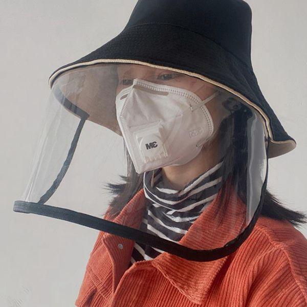 防護帽子帽子女全面防護帽漁夫帽面罩防飛沫唾沫韓版百搭夏天全臉防曬遮陽
