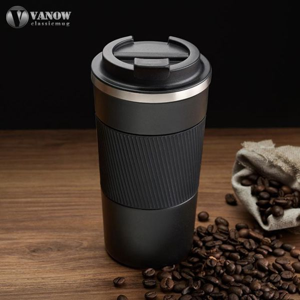 咖啡保溫杯英國Vanow保溫杯咖啡杯便攜男女學生不銹鋼車載隨手水杯馬克杯子