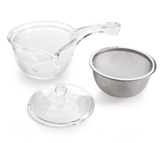 【亞美YAMA】300cc 手把花茶壺 玻璃花茶壺 HJ-05 水果茶壺 茶葉壺 廚房餐具