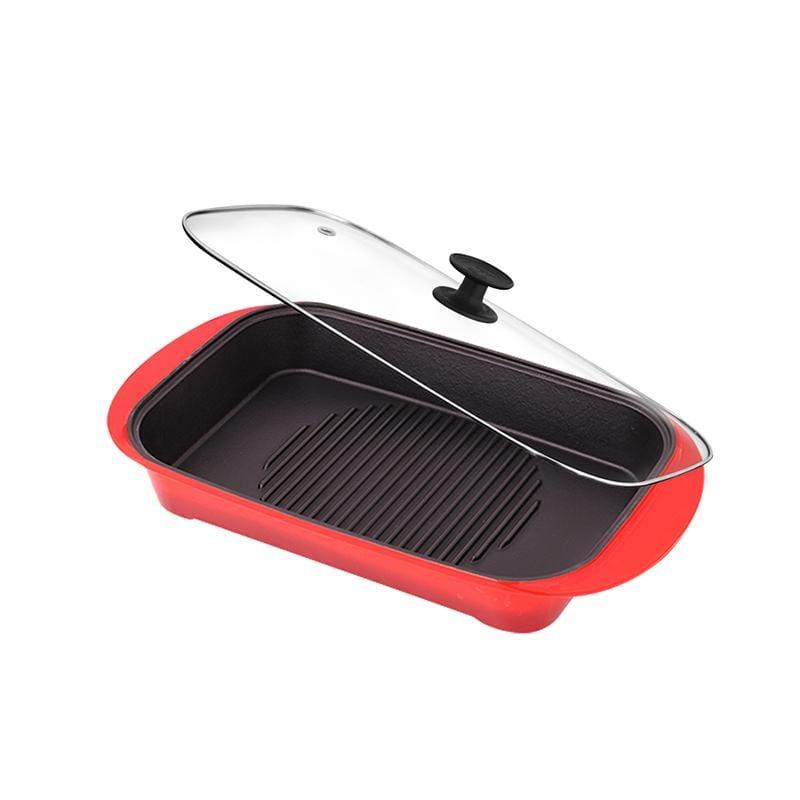饗宴系列-A4L鑄鐵肋深烤盤(2色可選) 紅漸層