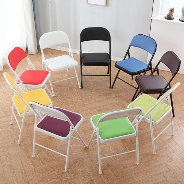 折疊椅子靠揹家用凳子宿舍學生電腦靠椅現代簡約餐椅培訓椅會議椅