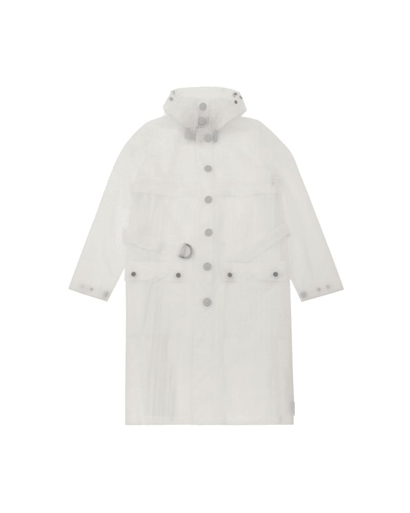 Refined Wasserdichter Vinyl-part-pleat-coat Für Damen