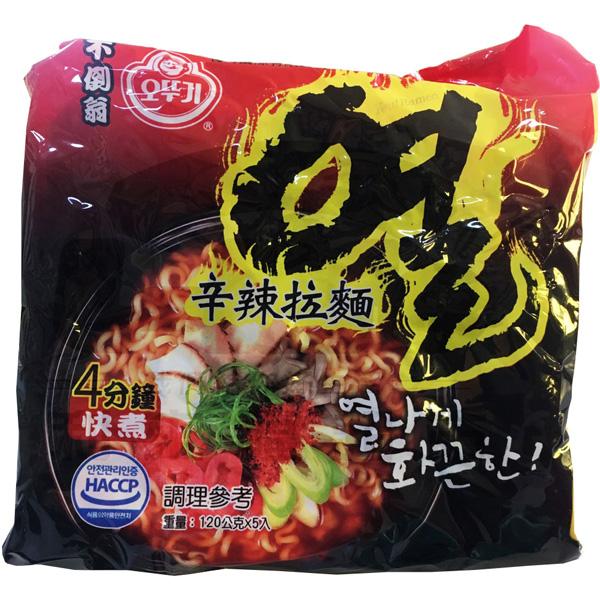 韓國不倒翁(OTTOGI) 辛辣拉麵120gX5入