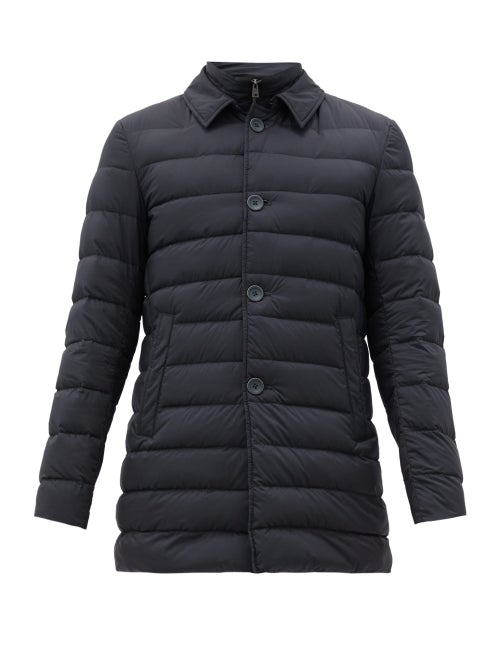 Herno - Il Cappotto Quilted-down Coat - Mens - Navy