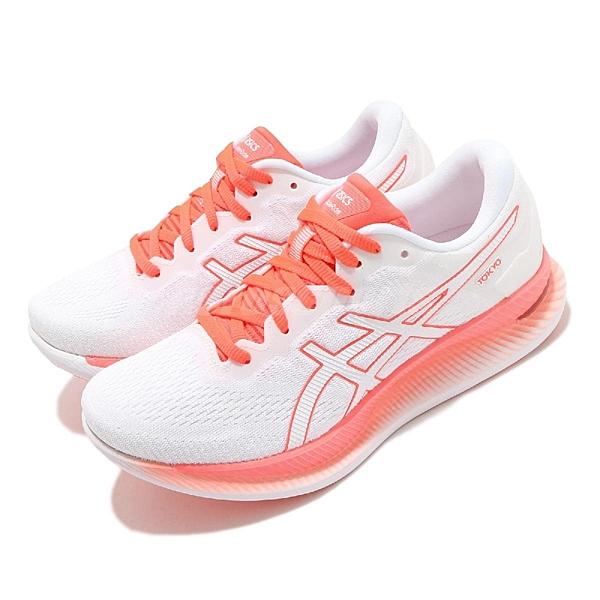 Asics 慢跑鞋 GlideRide Tokyo 白 橘 女鞋 全新科技 輕量省力型跑鞋 運動鞋 【ACS】 1012A943100