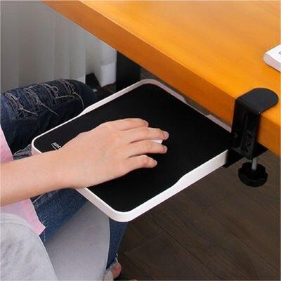 電腦手托架 金康碩桌邊懸掛護腕滑鼠墊電腦手托架手腕墊桌邊推拉收納盒延伸板 『MY5292』
