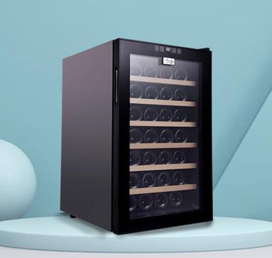 恆溫酒櫃 家用茶葉飲料冷藏櫃 壓縮機紅酒櫃 小型22YH-42主圖款  全館85折