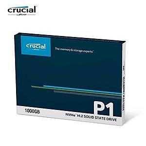 【綠蔭-免運】Micron Crucial P1 2TB SSD