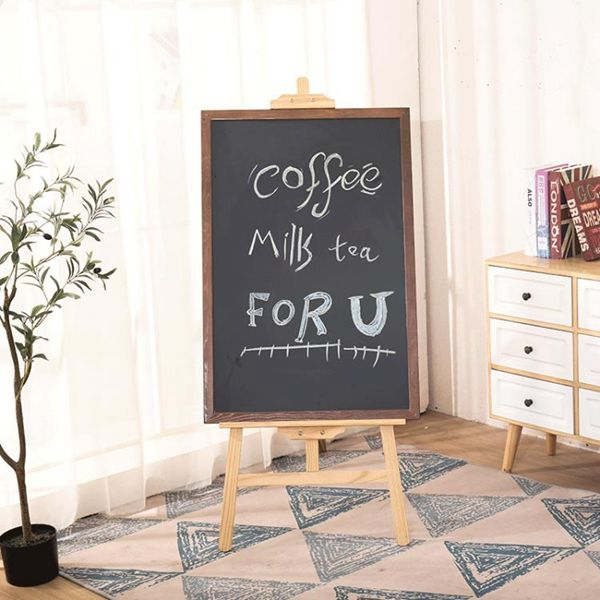 廣告牌實木支架式小黑板掛式創意菜單展示牌家用店鋪廣告板裝飾咖啡店
