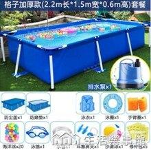 大型兒童游泳池家用成人超大支架泳池戶外摺疊加厚寵物洗澡戲水池 NMS生活樂事館 聖誕節禮物