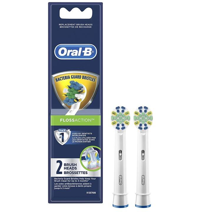 【美國代購】Oral-B牙線清潔電動牙刷替換刷頭 2支