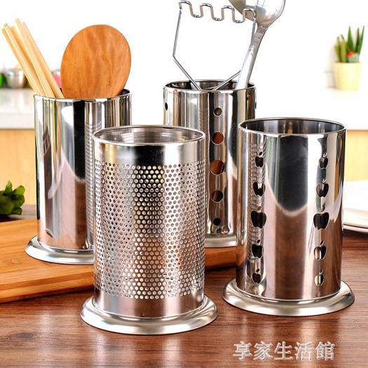 不銹鋼筷子筒筷籠家用放筷子盒勺筷筒置物架瀝水架