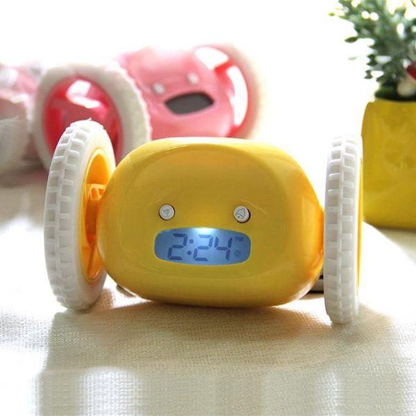 兒童創意學生會逃跑的鬧鐘可愛會跑的鬧鐘懶人懶睡禮物鬧鐘