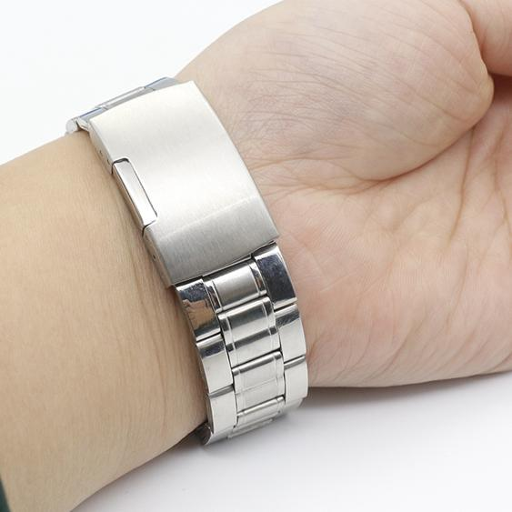 【免運】手錶鍊男士實心鋼帶通用精鋼錶帶配件不銹鋼錶鍊18 19 20  22 mm    電購3C 喜迎新春 全館8.5折起