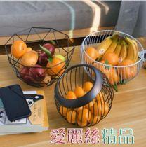 水果盤 水果盤歐式創意現代客廳家用茶幾盆北歐風格小精致果盤ins水果藍