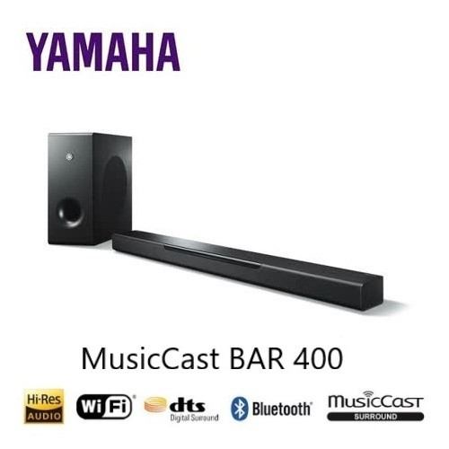 YAMAHA 家庭劇院聲霸MusicCast BAR 400 YAS-408 公司貨 保固一年 (聊聊享優惠)