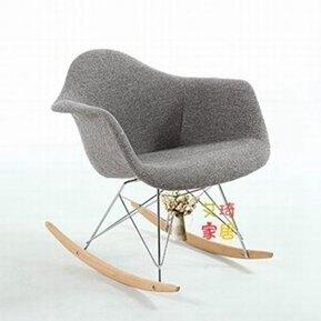 搖椅沙發 創意搖椅成人客廳伊姆斯搖搖椅沙發布藝家用小戶型懶人陽臺休閒椅T 7色 秋冬新品特惠