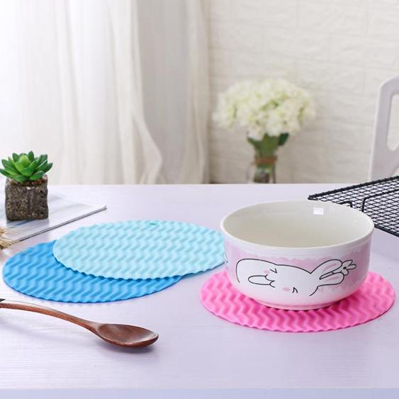 大號硅膠餐桌墊隔熱墊 防滑鍋墊碗盤墊 波浪形硅膠餐墊