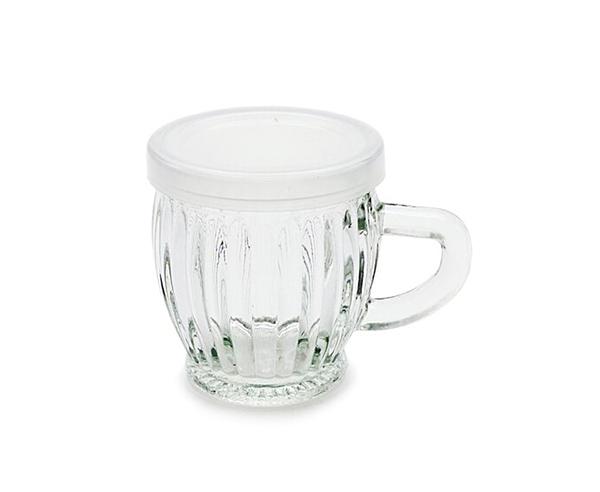 附蓋 140cc 玻璃小啤酒杯 小飲料杯 果醬瓶 耐烤布丁杯 玻璃瓶 瓶瓶罐罐 把手玻璃瓶【T057】