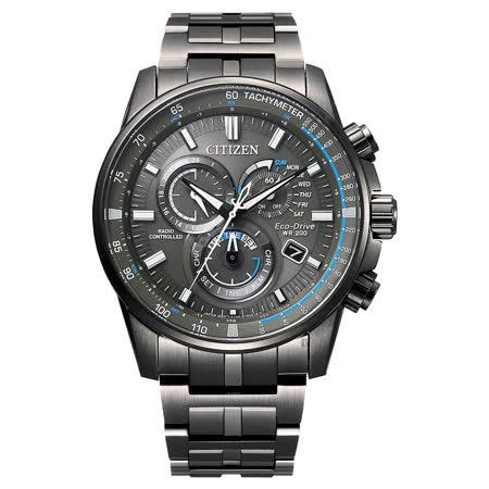 CITIZEN Eco-Drive 極限巔峰時尚電波腕錶-CB5887-55H