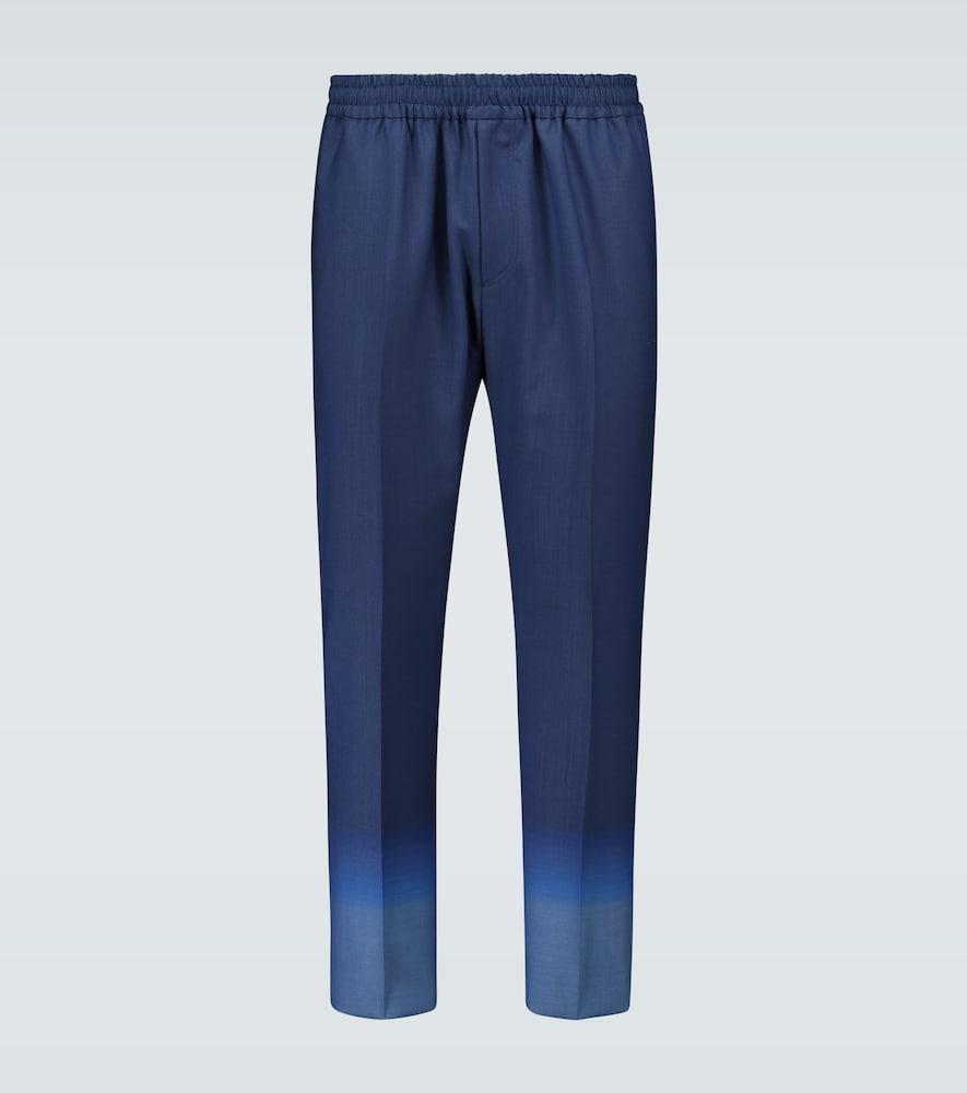 Gradient jacquard wool pants