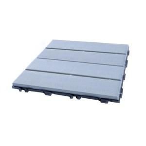 日式木紋防水拼接地板灰-9入