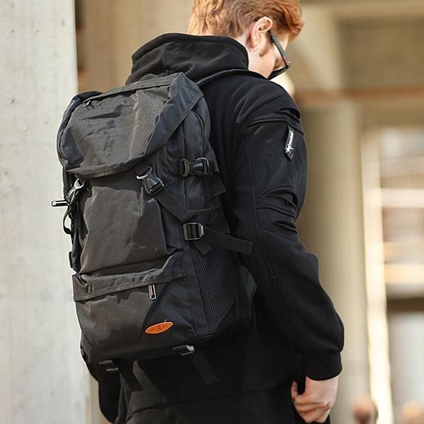 大容量雙肩包男行李旅遊背包簡約休閒書包潮戶外輕便登山女旅行包 傑克型男館