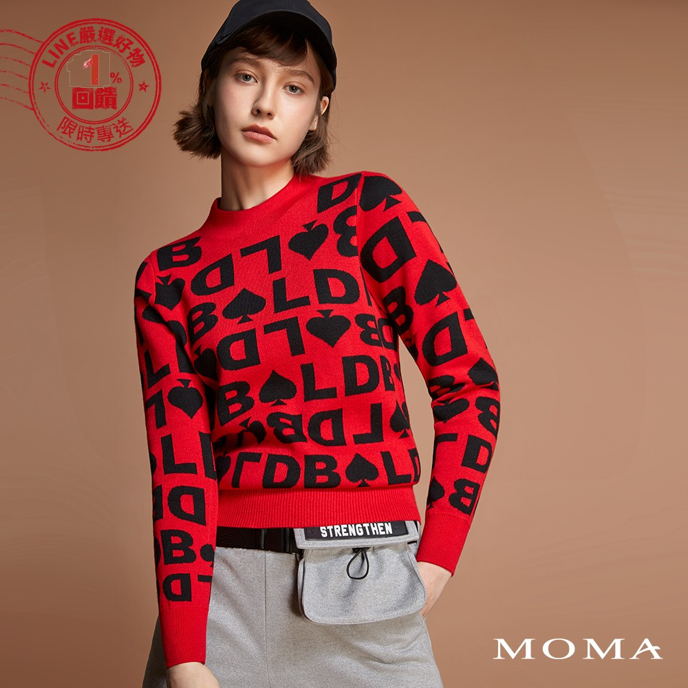 MOMA(92KM82)黑桃字母針織上衣