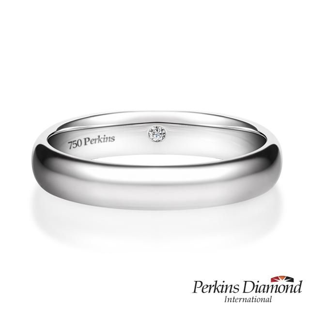 鑽石戒指 PERKINS 伯金仕18K白金鑽戒