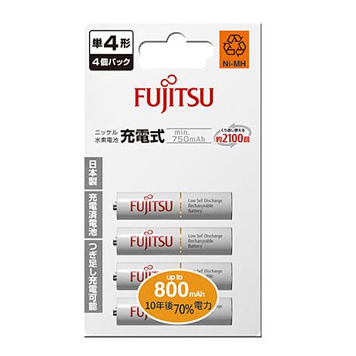 FUJITSU 富士通 4號 800mAh 充電電池 4入 / 卡