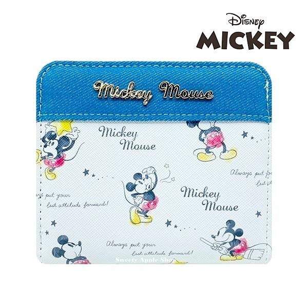 日本限定 迪士尼 米奇 英字多表情版 零錢包 / 收納夾 / 短夾