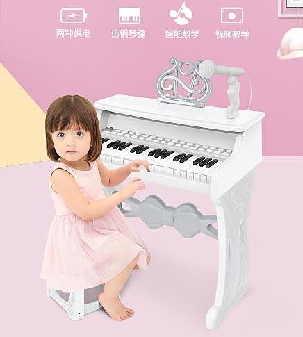 寶貝兒童鋼琴玩具女孩寶寶電子琴1-2-5周歲小孩生日禮物初學 LX 夏洛特