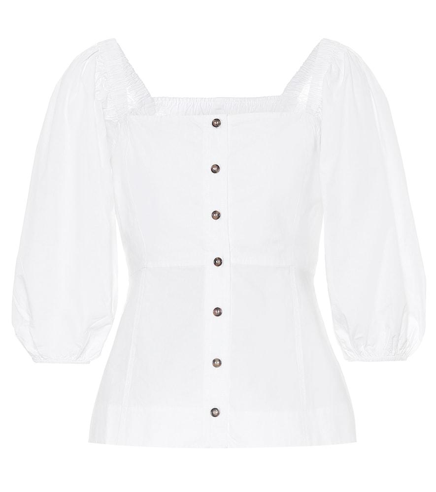 Cotton-poplin blouse