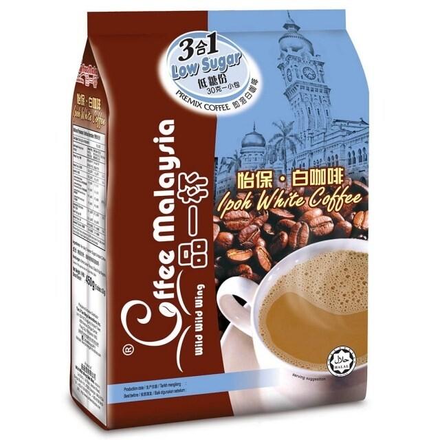 馬來西亞 品一杯怡保白咖啡 3合1低糖配方白咖啡 =30g x 15條=