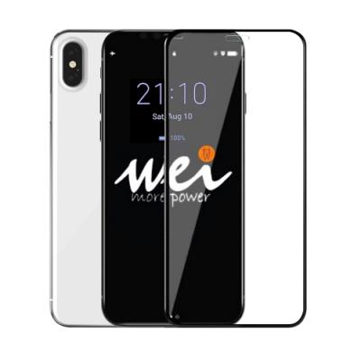 膜力威 for iPhone Xs Max  6.5  2.5D專利抗藍光滿版玻璃保護貼-黑
