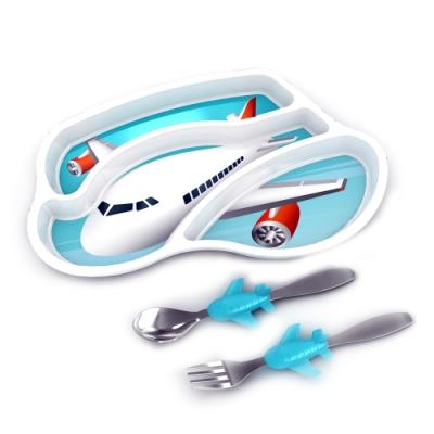 【KIDSFUNWARES】造型兒童餐盤組(飛機)