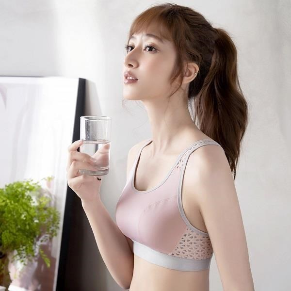 【莎薇】透氣 M-3L 運動內衣(粉)