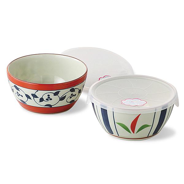 日本 西海陶器 染錦附蓋碗-2入組