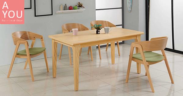 瑪蒂5 尺栓木餐桌(大台北地區免運費)【阿玉的家2020】