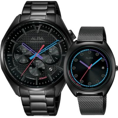 ALBA 雅柏 東京情人對錶  VD53-X366SD+VJ32-X304SD(AT3G99X1+AG8K53X1)