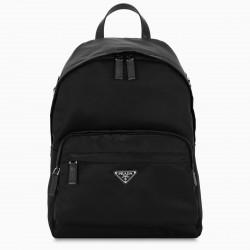 Prada Black nylon and Saffiano backpack