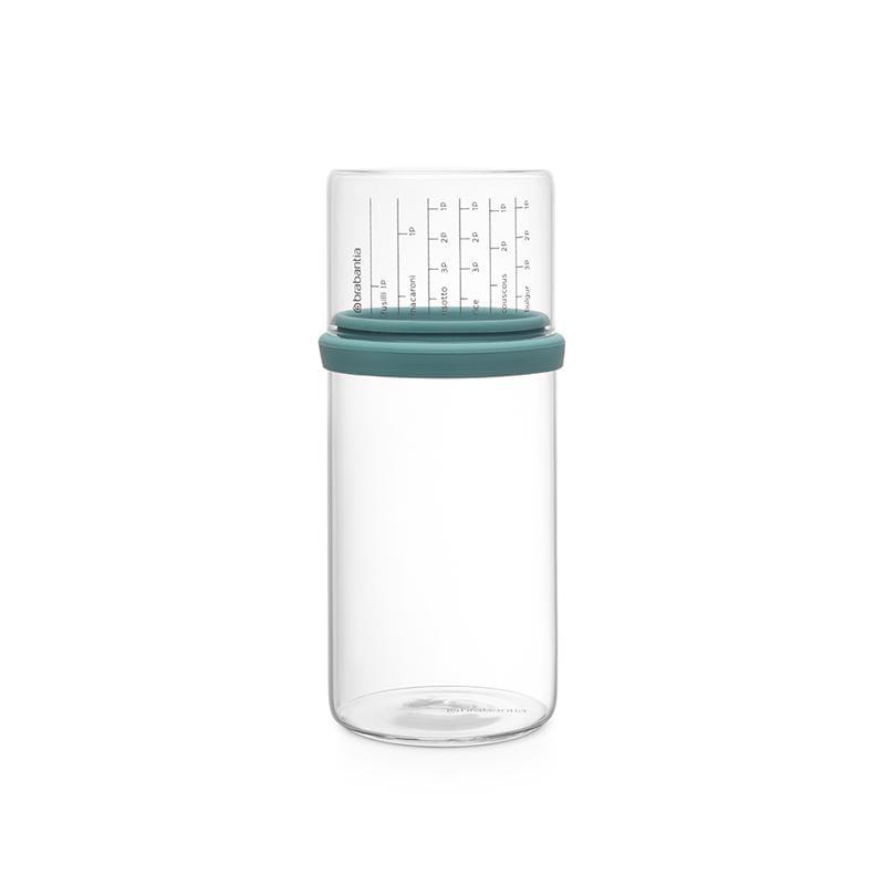 玻璃量杯儲存罐1L (兩色) 灰黑